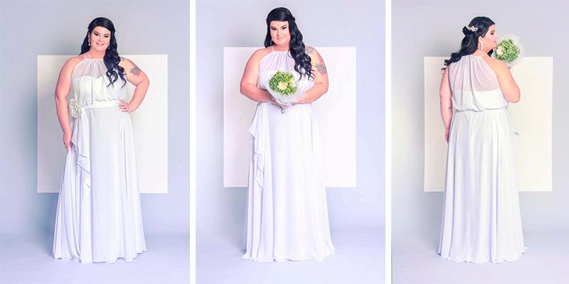 8026db1aff Vestido de noiva para casamento na praia ou no campo usado pela blogueira  Paula Bastos