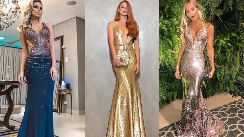 a687433fb Brilhos em vestidos de festa: como usar sem exagero e de forma elegante