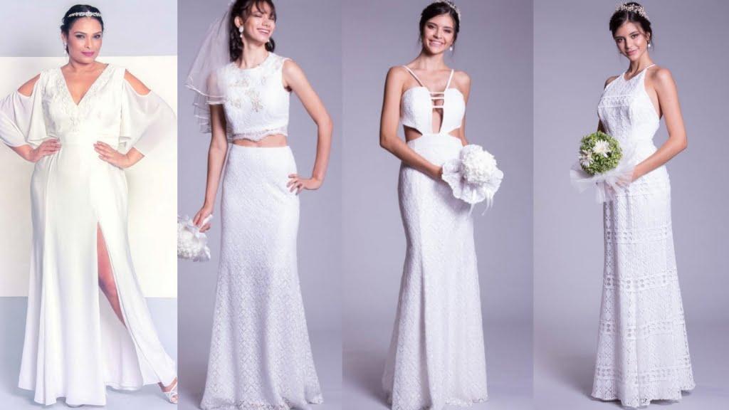 A Maison Arthur Caliman possui modelos exclusivos de vestidos de noivado longo.