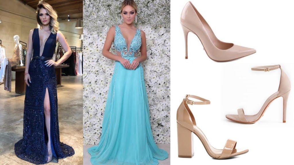 O sapato nude é uma escolha que não tem erro e combina perfeitamente como todos os tons de azul, até mesmo os mais claros.
