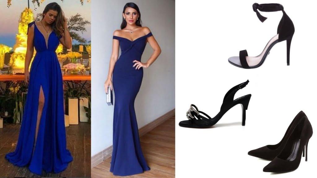 Apesar de o preto ser considerado uma cor básica, o sapato preto confere sobriedade e sofisticação à produção.
