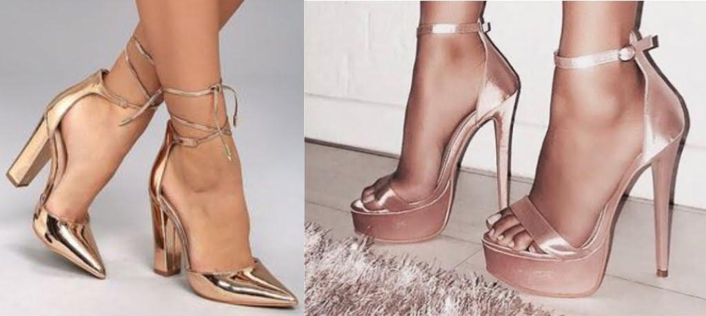 O sapato metalizado incrementa qualquer produção e é perfeito para quando seu vestido longo for mais básico.