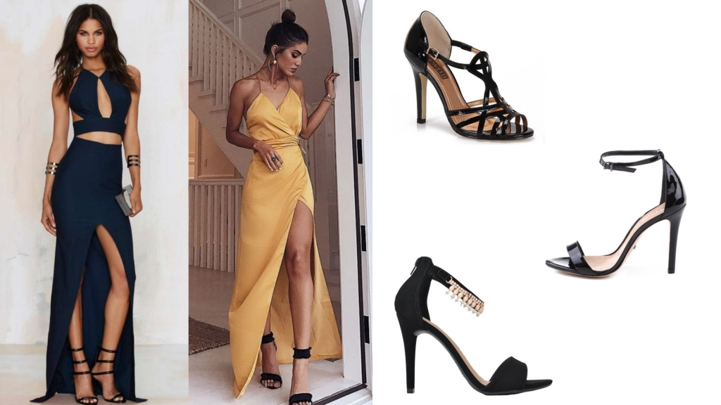 A sandália preta não é tão básica quanto parece e pode deixar seu look ainda mais poderoso.