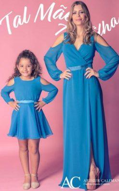 Vestido de Festa Infantil Modernos tal mãe tal filha