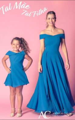 Vestido de Festa Infantil Uber Chics tal mãe tal filha