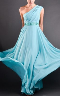Vestido de Festa Longo Light Blue