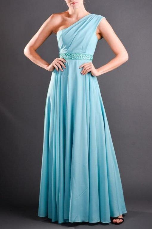 Vestido de Festa Longo Light Blue