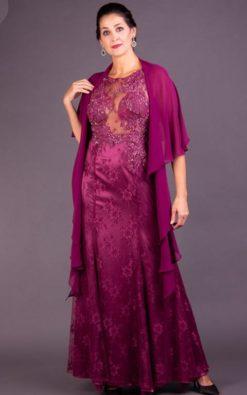 Vestido de Festa Longo Sereia Vinho