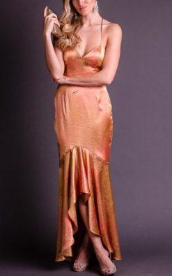 Vestido de Festa Midi de Alcinha Cetim