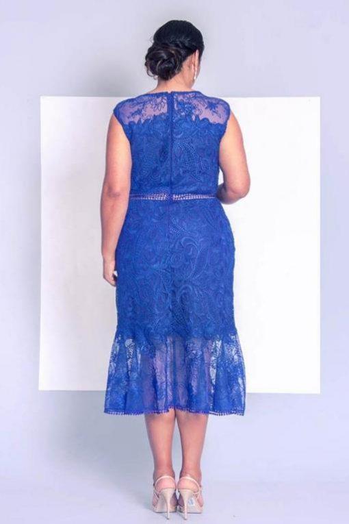 Vestido de festa Midi Plus Size Kodama