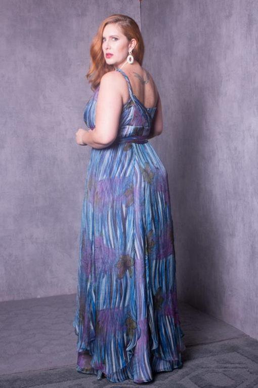 Vestido de Festa Plus Size Curvy Flues