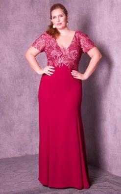 Vestido de Festa Red Curvy