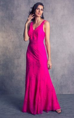 Vestido de Festa Rosa Vibrante