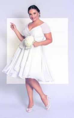 Vestido de noiva curto para casamento civil PB Winnie