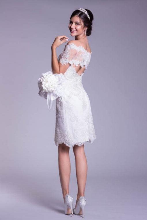 Vestido de Noiva curto para casamento civil Petit