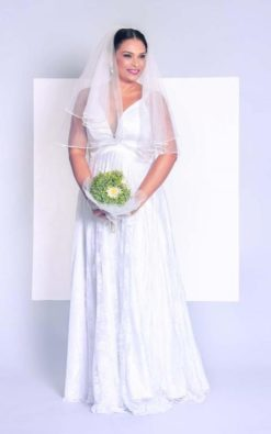 Vestido de Noiva Longo Plus Size PB Helix