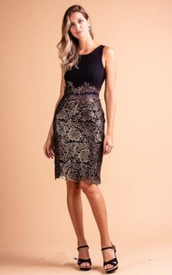 Vestido de Festa Curto De Renda Night Out Preto