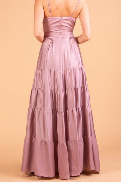 Vestido de Festa Longo de Alças Rosê