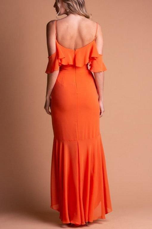 Vestido de Festa Longo de Alcinha Orange