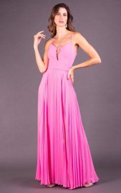 Vestido de Festa Longo Rosa Gloss