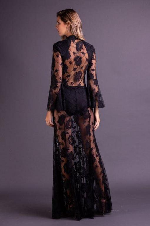 Vestido de Festa Longo Sereia Preto