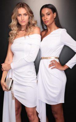 Vestido de Festa Curto Branco Taty Réveillon 2020