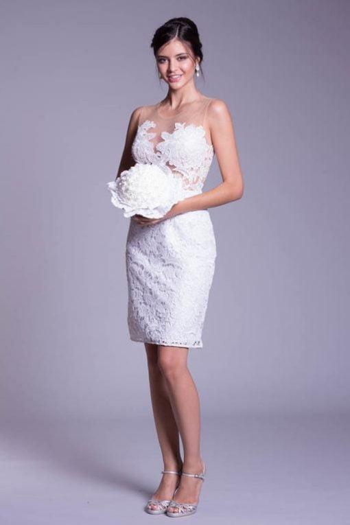 Vestido de Festa Curto de noiva Yoko