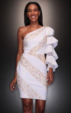 Vestido de Festa Curto de Réveillon Adriane Galisteu