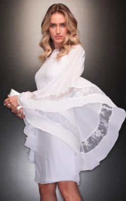 Vestido de Festa Curto de Réveillon Branco Paola Oliveira