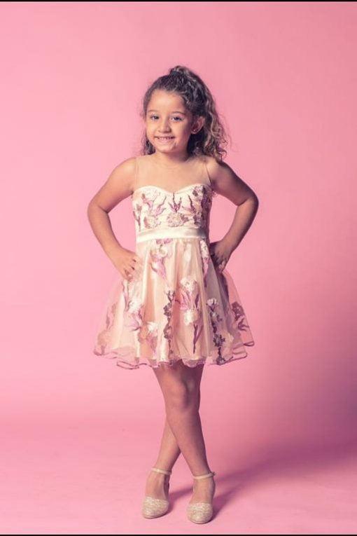 Vestido de Festa curto Infantil Hits