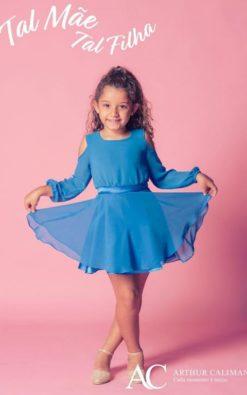 Vestido de Festa Curto Infantil Shine Star