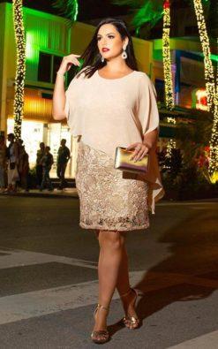 Vestido de Festa Curto Yunix Plus Size Reveillon 2020
