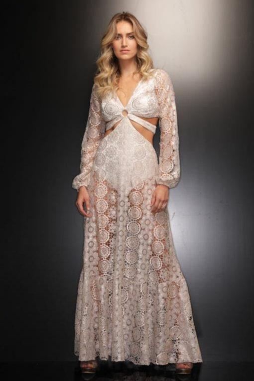 Vestido de Festa de Réveillon em Renda Juliana Paes