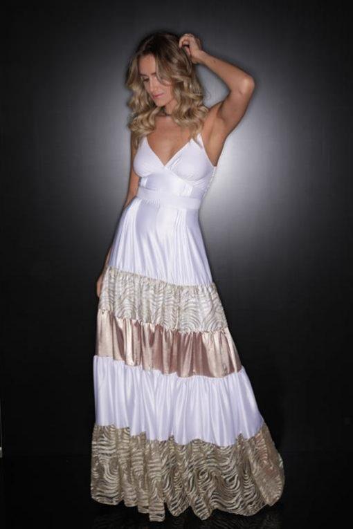 Vestido de Festa Longo de Alcinha Carolina Dieckmam