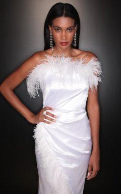 Vestido de Festa Longo De Réveillon Bruna Marquezine