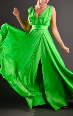Vestido de Festa Longo Green
