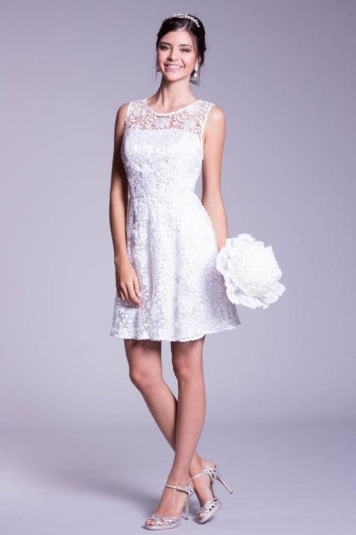 Vestido de Festa Noiva curto Ludy