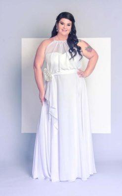 Vestido de Festa Noiva plus size PB Rainha