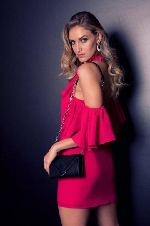 Vestido de Festa pink Carolyne