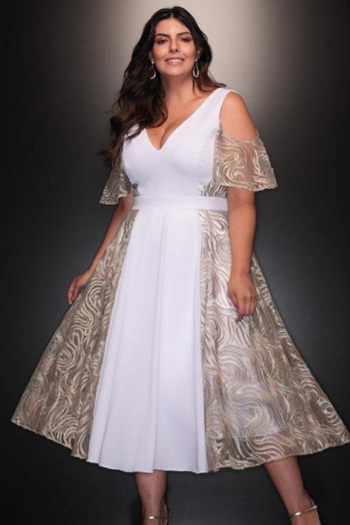 Vestido de Festa Plus Size de Réveillon Nanda Costa