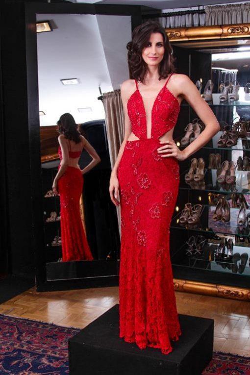 Vestido de Festa Red Velvet