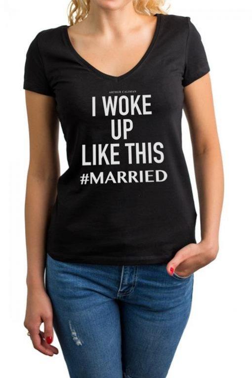 camiseta-preta-para-noiva-#married