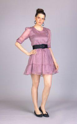 Vestido de festa curto tomi