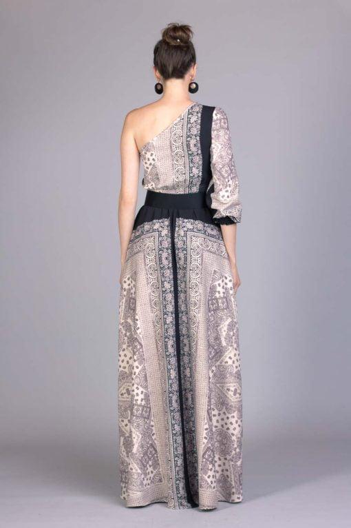 Vestido de festa estampado guilhermina