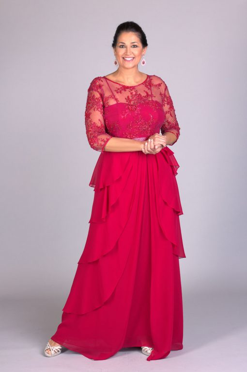 Vestido de festa Hebe Camargo