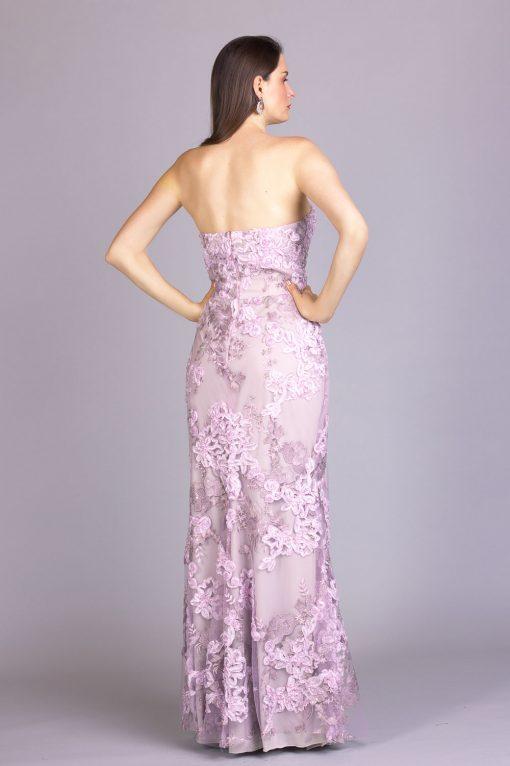 costas do vestido de festa livia