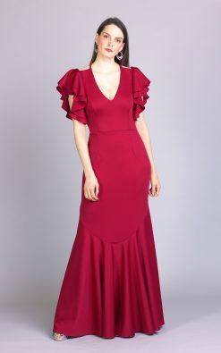 Vestido de festa marsala briss