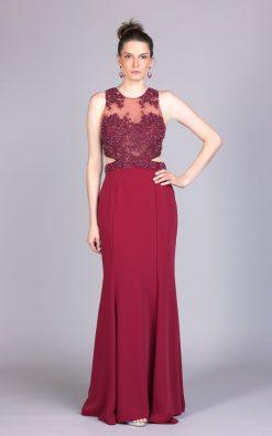 Vestido de festa marsala latina
