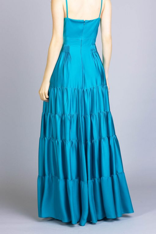 Vestido de festa martina azul