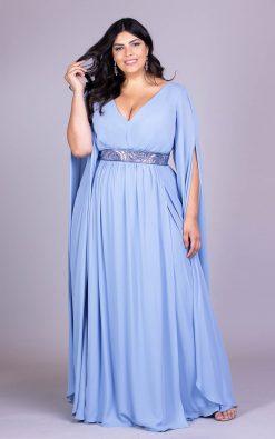 Vestido de festa plus size deusa grega